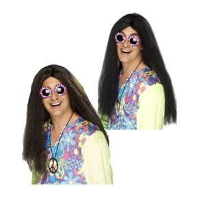da-uomo-adulto-ANNI-039-60-ANNI-70-moda-Flower-Power-Hippy-Parrucca