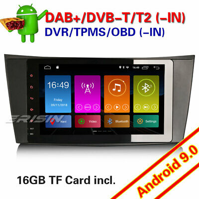 """Android 9.0 8/"""" Car Stereo GPS SAT NAV DAB for Mercedes-Benz E-Class W211 W219"""