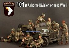 1/35 WW2 US 101st Airborne Division 9 soldier  Resin Model Kit figures (No Jeep)