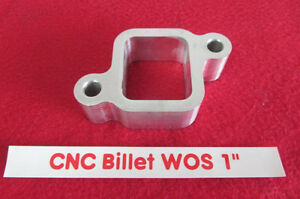 1-00-CNC-Billet-aluminum-water-outlet-spacer-Chevy-L6-250-292-Inline