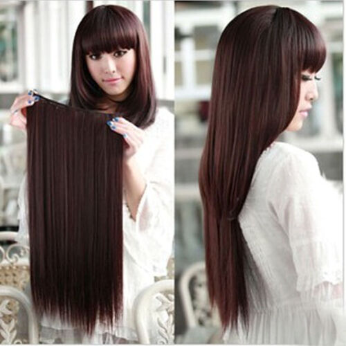 Clip In Remy 100% Human Hair Extensions Full Head One Piece Thick Set 24-30''