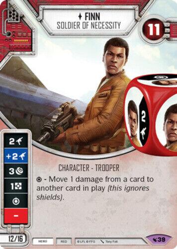 x1 Finn Soldier of Necessity 39 Legendary Star Wars Destiny Legacies M//NM
