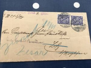 Germany-cover-with-Dienstmarke-stamp-in-pair-with-address-change