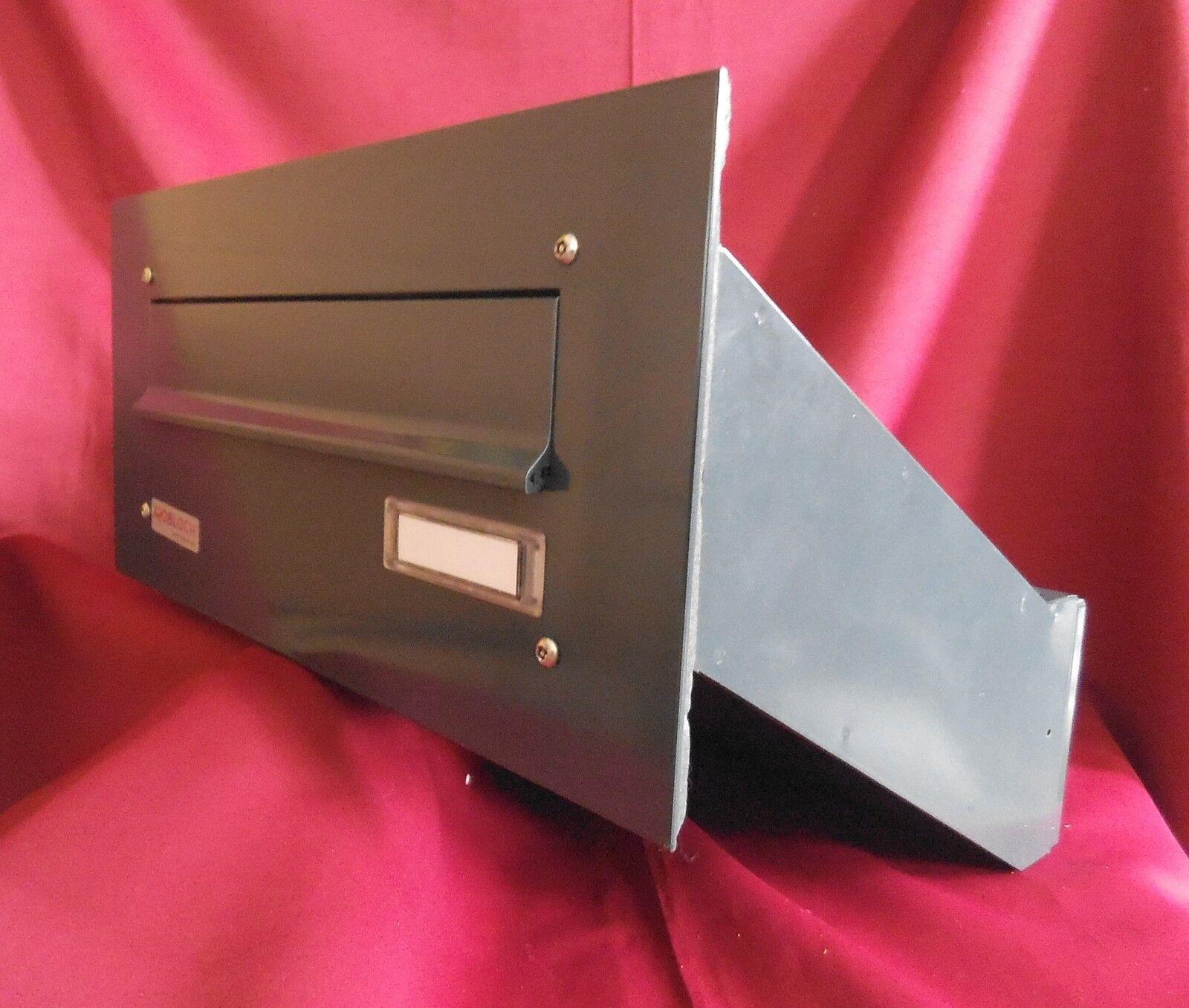 Mauerdurchwurf Briefkasten Durchwurf 1 teilig variable Tiefe grau MDH101-9007