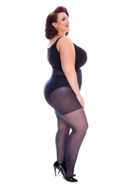 NEW WOMENS LADIES BLACK PATTERNED TIGHTS PLUS SIZE XL 18-20 R21N