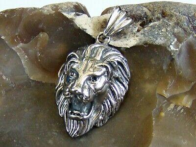 Men/'s Titanium Steel Pendant Gold LION blacken 45x30mm
