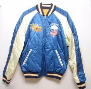 433f1e96 Details about Polo Ralph Lauren REVERSIBLE Souvenir Satin Bomber Jacket  Size M