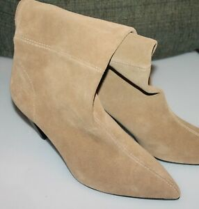 Boots SUEDE HIGH-HEEL ANKLE sand Size
