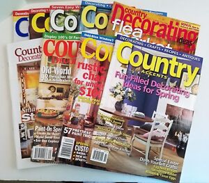 Details about Country Accents Almanac Decorating Ideas Magazine Lot