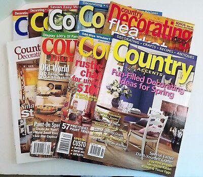 Country Accents Almanac Decorating Ideas Magazine Lot | eBay