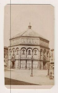 Vintage CDV Baptistery of Saint John Florence Italy Giacomo Brogi Photo