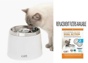 CATIT-SENSES-CAT-FRESH-amp-CLEAR-STAINLESS-STEEL-CAT-DOG-DRINKING-FOUNTAIN-50023