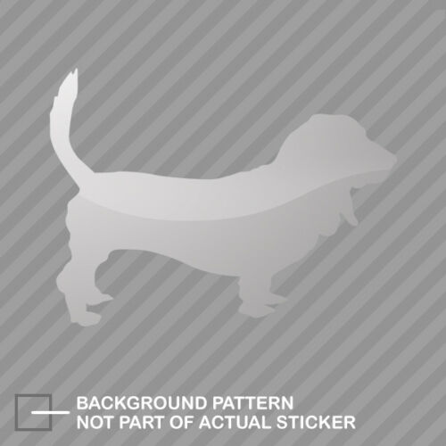 Basset Hound Sticker Die Cut Decal dog canine pet