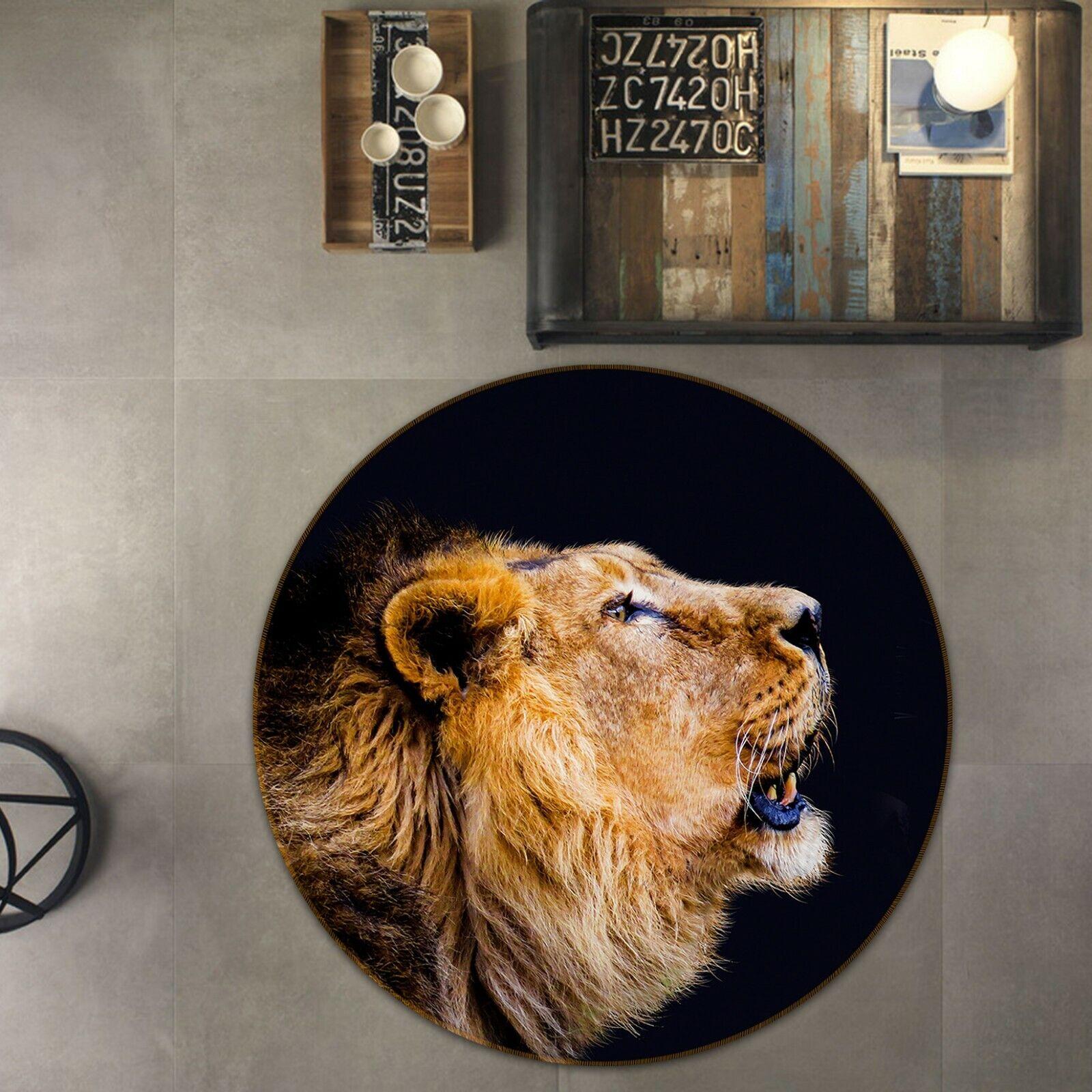 3D Lion Howling Beast C04 Animal Non Slip Rug Mat Elegant Photo Carpet Zoe