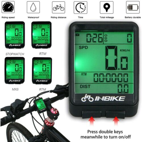 MTB Bicycle Cycle Bike Speedometer Waterproof Wireless Meter Computer Odometer