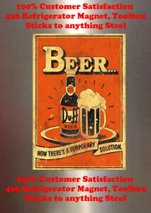 Beer Fridge No Other Man Cave Decor SIGN 4x6 Magnet BAR TOOLBOX Refrigerator