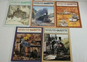 Narrow-Gauge-And-Short-Line-Gazzette-Lot-Of-5-1986-Modelbuilding-Magazines