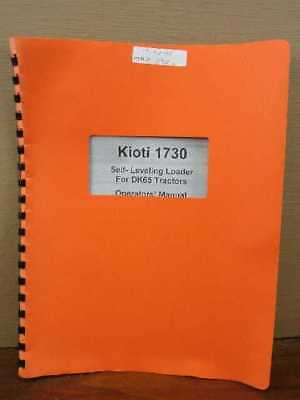 Kioti 1730 Self Leveling Loader For DK65 Tractors Owners