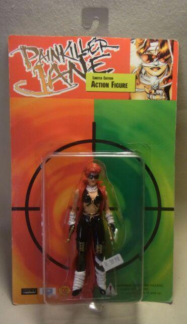 Vtg 90s Action Figur PAINKILLER JANE Limited Action Figur OVP 1998
