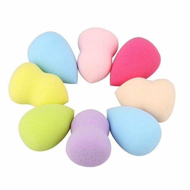 4pcs New Convenient Makeup Blender Foundation Sponge Puff Flawless Smooth Beauty