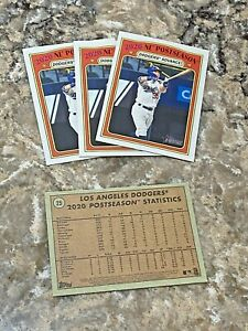 (4) 2021 Topps Heritage World Series Cody Bellinger #25 Los Angeles Dodgers