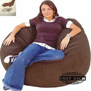 Image Is Loading Bean Bag Chair Memory Foam Filled Comfort By
