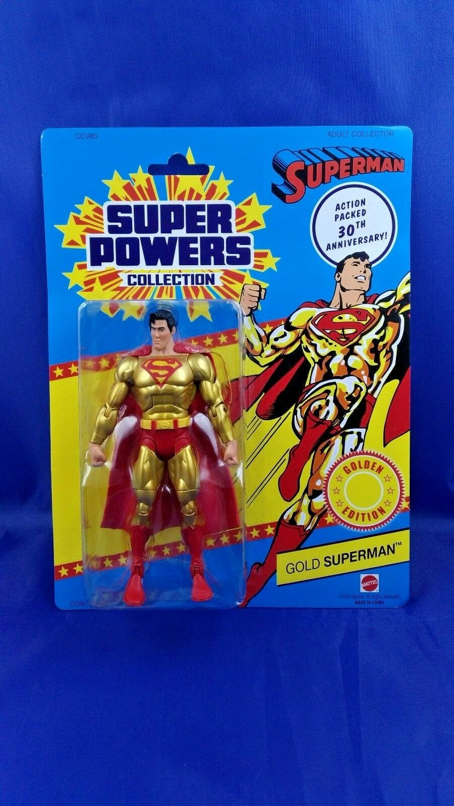 Figure Superman Gold Dc Universe Action Super Powers Comics Superhero Series New