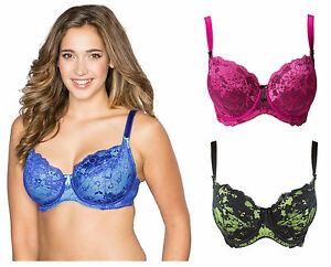 Pour-Moi-Amour-Balcony-Bra-1502-Ink-Blue-Jewel-Pink-Black-Chartreuse-Almond