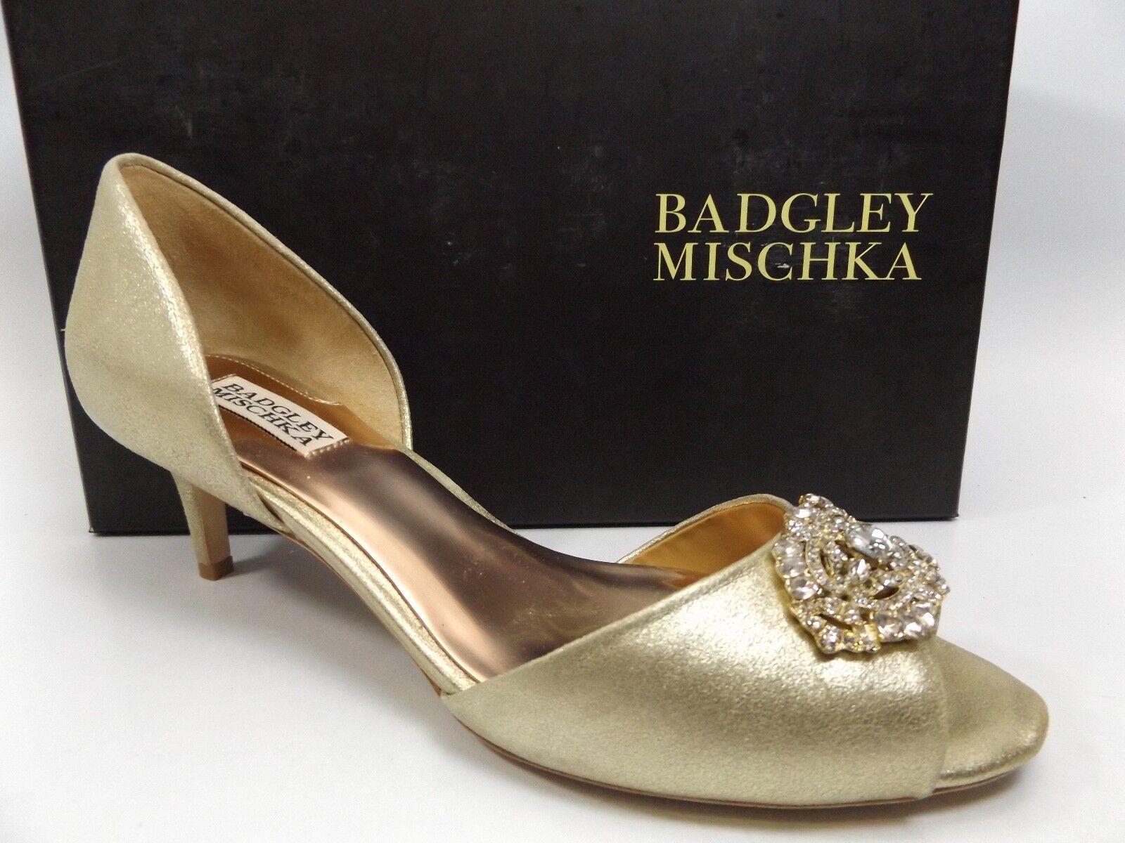 Badgley Mischka Femme Petrina II D'ORSAY Pompe, Platino, SZ 9.0 M Display D7812