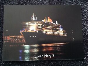 unused postcard Cunard Liner - Queen Mary 2, flagship launched 2004