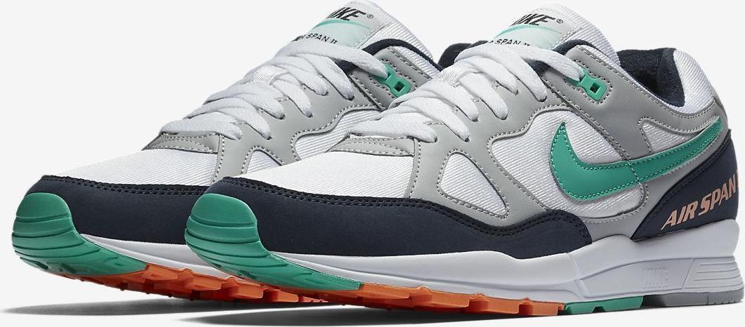 Nike air span ii 2 ah8047 006 wolf grau grau grau / weiß / blau / rot - orange - grünen obsidian 6853b6