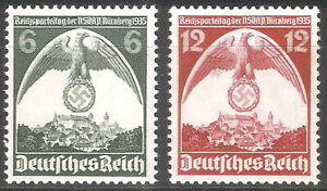DR-Nazi-3rd-Reich-Rare-WW2-STAMP-1935-Swastika-Eagle-Nazi-Congress-in-NURENBERG