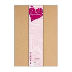 25-x-Kraftpapier-DIN-A4-braun-kraft-280g-m-braun-Bastel-Kraft-Papier-Docrafts