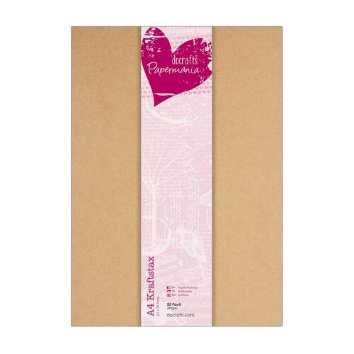 25 x force papier DIN a4 Marron Force 280g/m² Marron on sait que Kraft Docrafts
