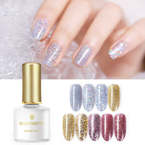 BORN PRETTY 6ml Gold Silver Glitter UV Gel Soak Off Sequins Nail Art ...