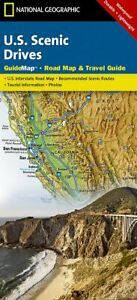 National Geographic Scenic Drives United States Road/Travel/Waterproof Guide Map
