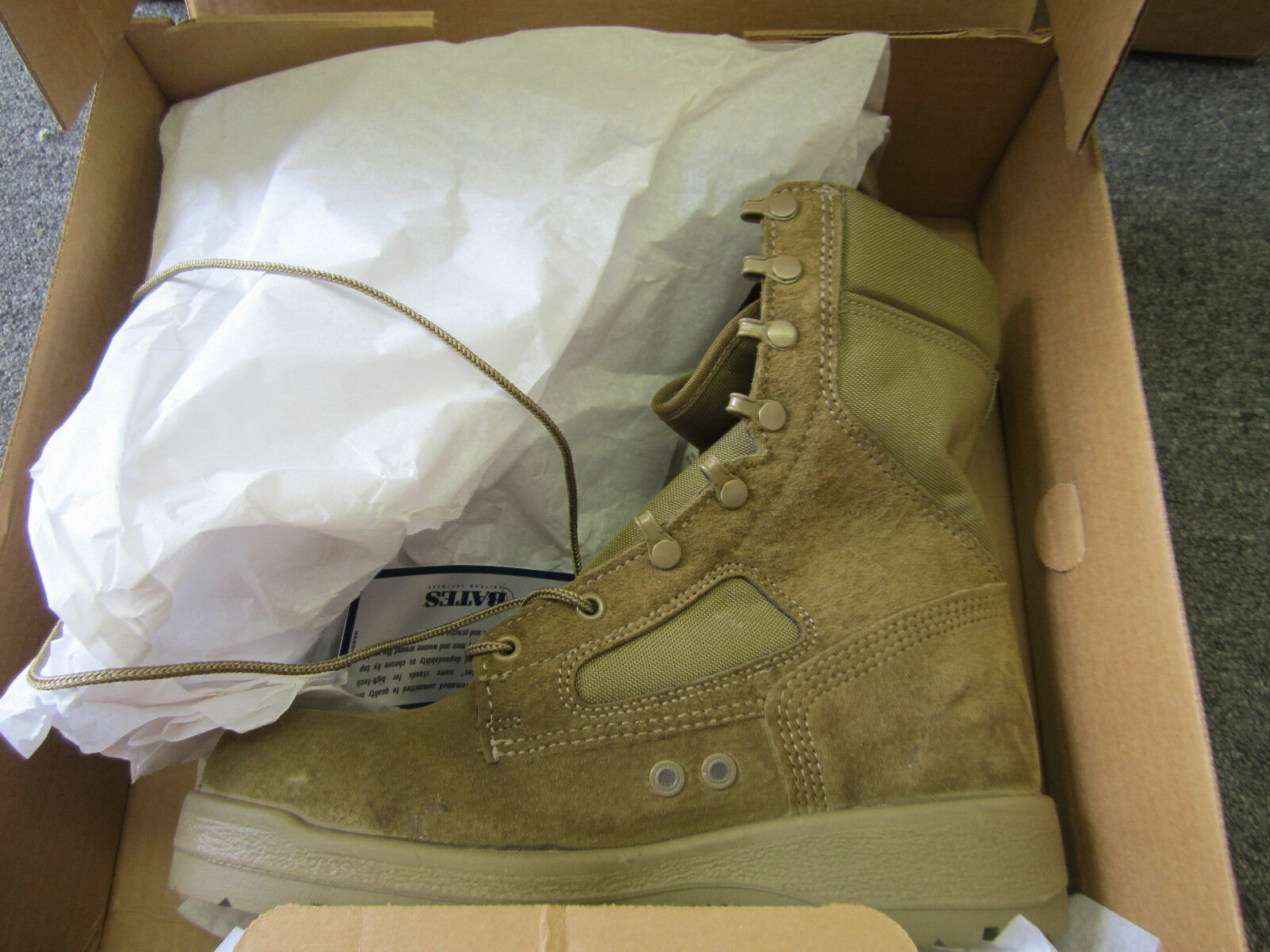 New BATES USMC Hot Weather Military Desert Combat Boots Size 8XW