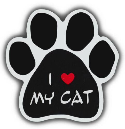 I LOVE MY CATCars Cat Paw Shaped Magnets Refrigerators Trucks