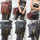 Women Men Gothic Punk Steampunk Fanny Waist Leg Pack Shoulder Bag Messenger Bag