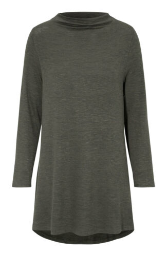 UK Size 8 up to PLUS 38 Ladies Grey Red Green Knit Long Polo Long Sleeved Jumper