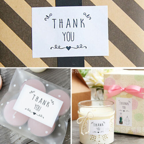 """42PCS /"""" THANK YOU /"""" Peel Off Stickers Wrapping Gift Bags Decor Sealing Sticker"""