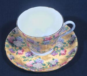 Shelley-Fine-Bone-China-Summer-Glory-Blue-Inside-Handle-Tea-Cup-and-Saucer-Set