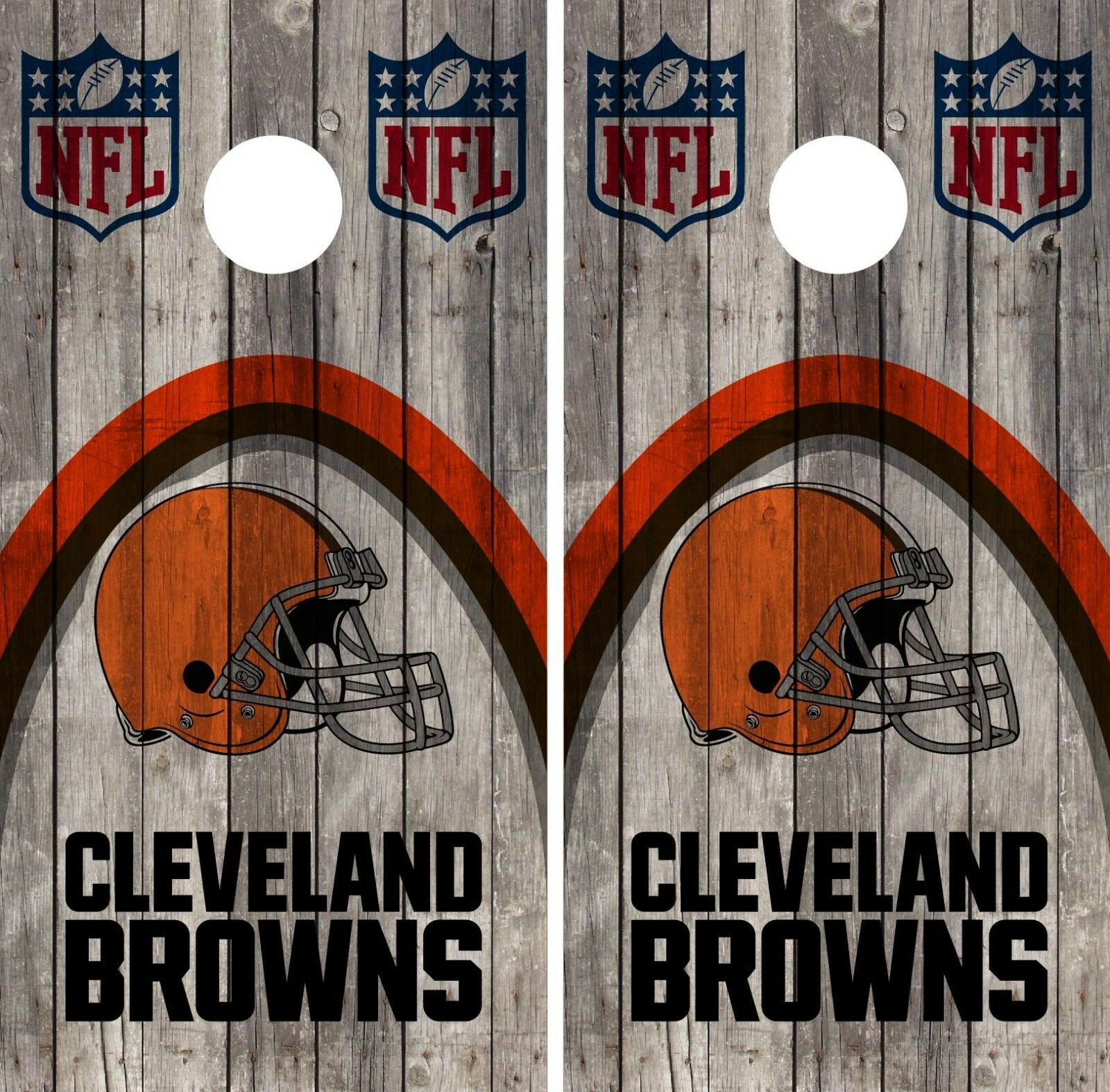 Cleveland Browns Cornhole Wrap NFL Wood Skin Game Board  Set Vinyl Decal CO59  discount sales