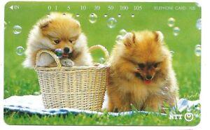 *4864 SCHEDA TELEFONICA PHONECARD JAPAN 231-296 PUPPIES AND SOAP BUBBLES 0-4 Mi26pKus-09115755-639936142