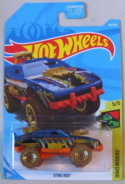 Hot Wheels 2018 Dino Riders Treasure Hunt STING ROD 5/5