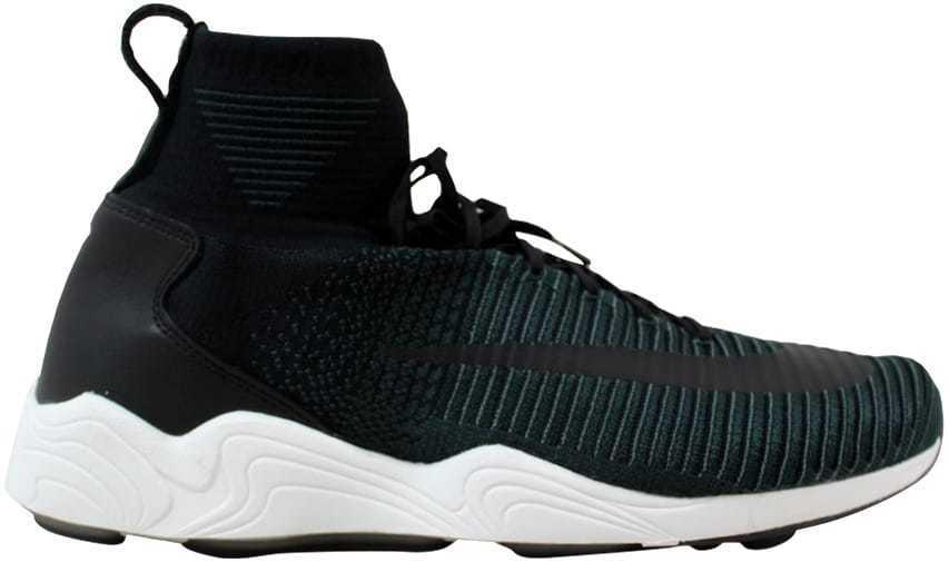 Nike zoom brillante xi flyknit fc schwarz / schwarz hasta algen 852616-001 sz.