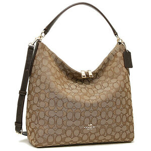 NWT Coach F55365 Outline Signature Celeste Convertible Hobo ...