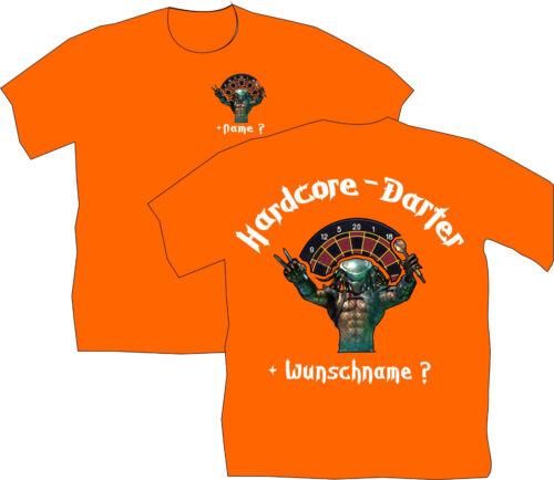 Dartshirt Dart T Shirt chemises vêtements dartclub flèches Hardcore Darter Fun 48