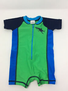 739f58e8caad9 HANNA ANDERSSON 1-pc SHARK Rash Guard Swim Suit Baby Boy 60 2 3 6 ...