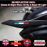 2x PIAGGIO motorcycle Sticker Decals 3M Reflective Vinyl 80mm L045